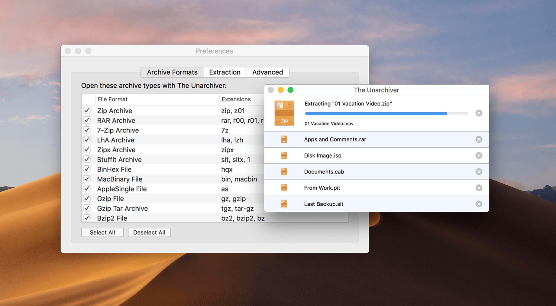 The Unarchiver for Mac 3.11.5 激活版 – 操作简单的压缩解压工具-麦氪派
